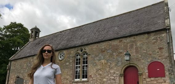 Taken by Viral History producer/director on St Cuthbert's Way shoot at Maxton