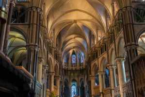Interior View of Canterbury Cathedral. Image shot 2015. Exact date unknown.